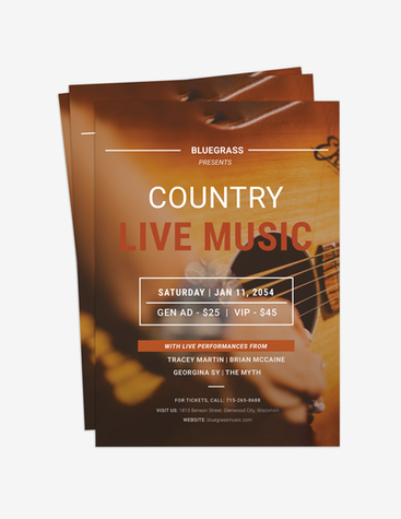 Live Country Music Flyer