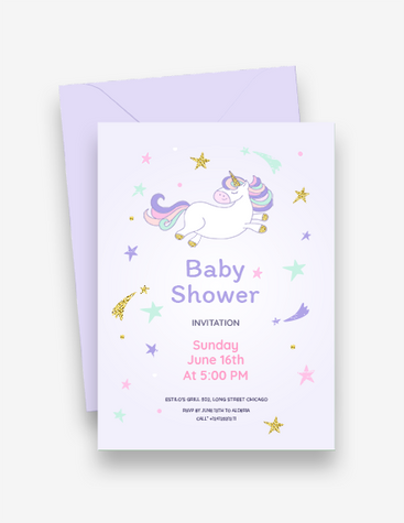 Starry Baby Shower Invitation