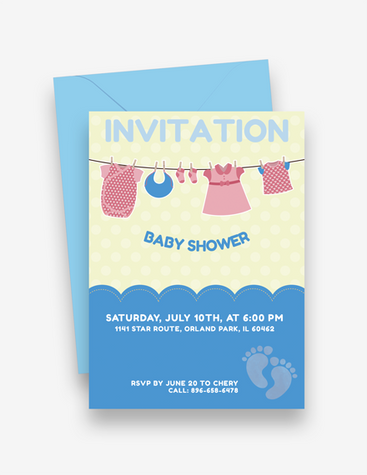 Cutesy Baby Shower Invitation