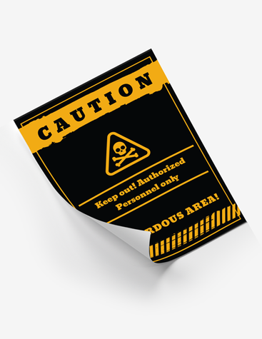 Straightforward Caution Poster